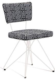 Cadeira Butterfly Retrô Branco E Preto Daf