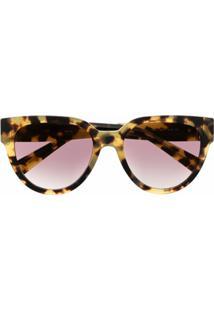 Givenchy Eyewear Óculos De Sol De Gatinho Com Efeito Tartaruga - Neutro