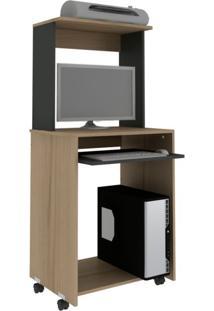 Mesa Para Computador Home Office Avelã E Ônix