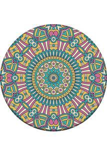 Tapete Love Decor Redondo Wevans Mandala For Multicolorido 84Cm - Verde - Dafiti