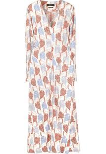 Isabel Marant Vestido Longo Com Estampa Floral - Branco