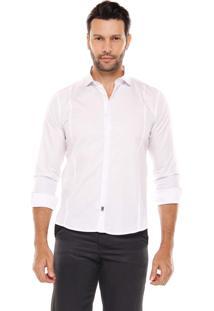 Camisa Manga Longa Remo Fenut Com Recorte Branco