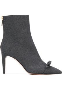 Redvalentino Red(V) Glitter 90 Ankle Boots - Preto