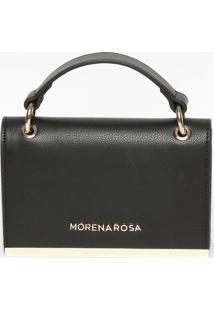 Bolsa Transversal Texturizada- Preta & Dourada- 12,5Morena Rosa
