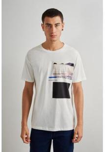Camiseta Estampada Geo Rsv Reserva - Masculino-Branco