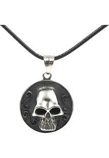 Colar Masculino Luxury Skull Malha