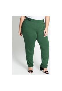 Calça Feminina Plus Size De Molecotton Secret Glam Verde