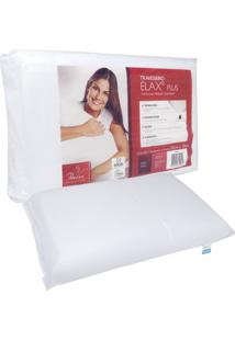 Travesseiro Fibrasca Elax Plus 50X70Cm Branco - Branco - Dafiti