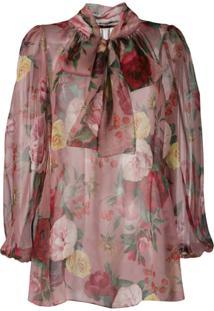 Dolce & Gabbana Floral Print Blouse - Rosa