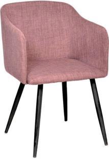 Poltrona Com Assento Linho 1126-Or Design - Marrom / Preto