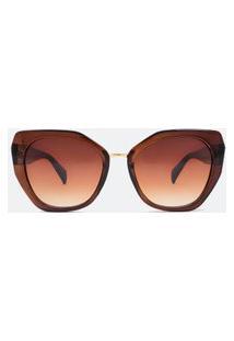 Óculos De Sol Feminino Policarbonato | Accessories | Marrom | U