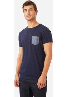 T-Shirt Foxton Indigo Poa Masculina - Masculino