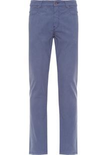 Calça Masculina Five Pockets Fio Tinto - Azul