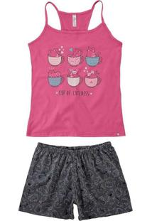 Pijama Feminino Curto Malwee 1000073425 01063-Pink
