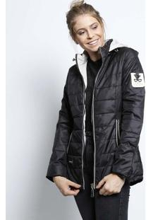 Jaqueta Com Aplicações & Bolsos- Preta- Susan Zhengsusan Zheng