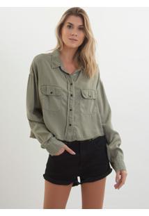 Camisa John John Izzi Verde Feminina (Verde Claro, M)