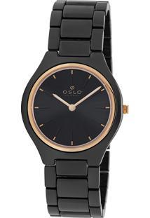 Relógio Oslo Aço Preto - Oftkks9T0002-P1Px