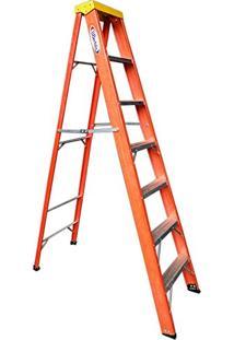 Escada Em Fibra De Vidro Modelo Tesoura 2,10M 7 Degraus