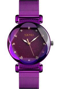 Relógio Skmei Analógico 9188 - Roxo - Kanui
