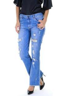 Calça Jeans Reta Aha Feminino - Feminino