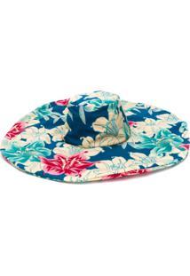 c2b35bd9fd ... Etro Chapéu Com Estampa Floral - Azul