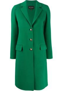Etro Casaco Midi Com Abotoamento Simples - Verde