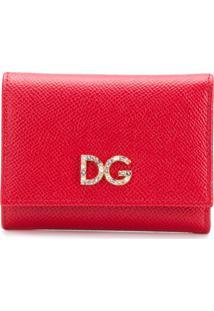 Dolce & Gabbana Carteira Dobrável - Vermelho