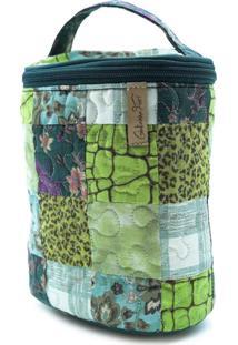 Necessaire Morgana Orchid Em Patchwork Original - Multicolorido/Verde - Feminino - Dafiti