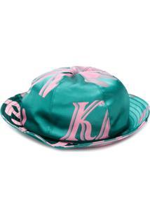 Kirin Chapéu Bucket Com Estampa De Logo - Verde
