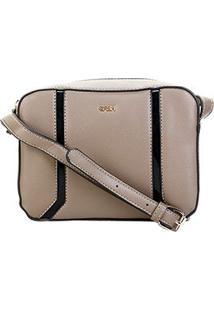 Bolsa Gash Mini Bag Recortes Feminina - Feminino-Cinza