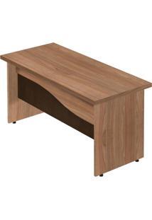 Mesa Para Escritório 3 Gavetas Ornare Plata Móveis Amêndoa/Ruggine