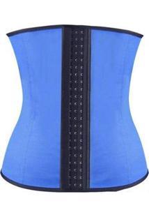 Cinta Modeladora Redutor Corretor Postural 7 Barbatanas Feminina - Unissex-Azul