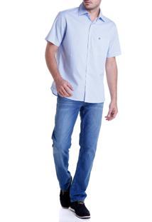 Calca Dudalina Jeans Blue Wash Masculina (Jeans Claro, 40)