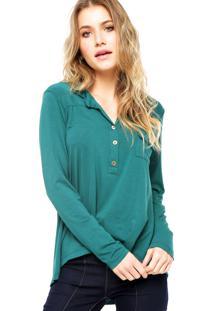Camisa Manga Longa Fiveblu Bolso Verde