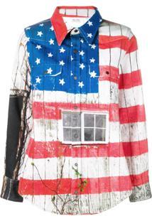 Calvin Klein Jeans Est. 1978 Usa Flag Jacket - Vermelho