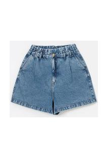 Short Jeans Mom Clochard Curve & Plus Size Azul