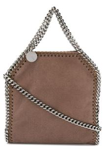 Stella Mccartney Bolsa Tote Falabella Mini - Marrom