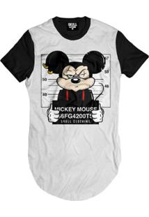 Camiseta Longline Mickey Busted Masculina - Masculino