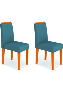 Conjunto Com 2 Cadeiras Ana Ipê E Azul