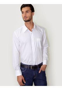 Camisa Social Branca Listras