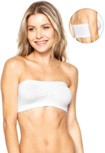 Top Lupo Bustier Sem Costura Branco