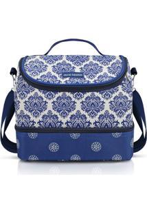 Bolsa Térmica Com 2 Compartimentos Jacki Design Bella Vitta Azul - Kanui