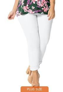 Calça Skinny Branca Sarja Power Moove
