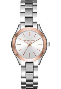 Relógio Analógico Mk3514-1Kn- Prateado & Rosê- Michamichael Kors