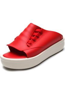 Sandália Flatform Melissa Ulitsa Platform Vermelha