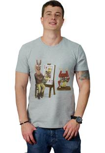 Camiseta Perplex King Card Cinza