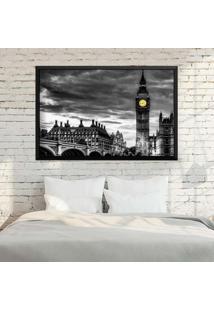 Quadro Love Decor Com Moldura London Preto Mã©Dio - Multicolorido - Dafiti