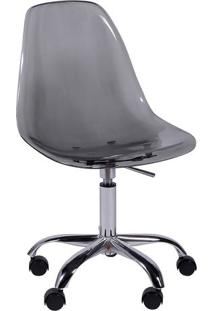 Cadeira Eames Dkr- Fumê & Prateada- 93X47X41Cm- Or Design