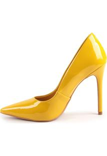 Scarpin Helo 930-80030/1053-80799 Verniz Amarelo (Solar) Amarelo