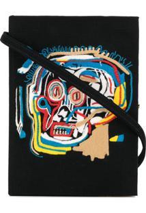 Olympia Le-Tan Clutch 'Basquiat Skull' - Preto